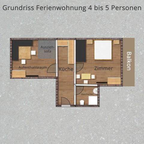 Gundreiss Ferienwohnung 4-5 Personen